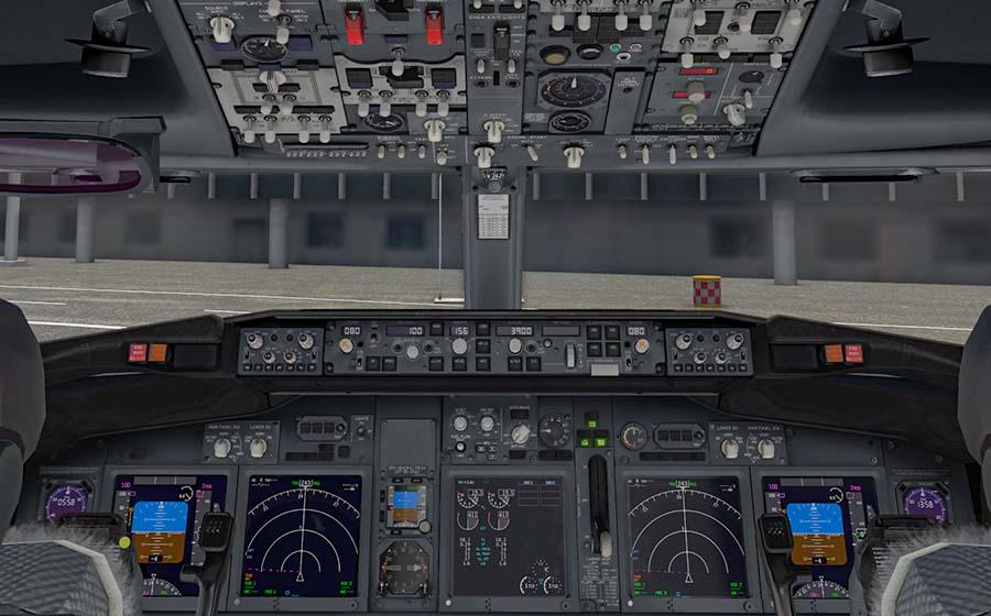 Cockpit einer B738